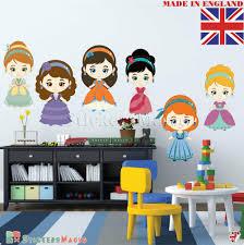 Cute Nursery Wall Stickers Pretty Girls Baby Kids Children Bedroom Decor Decals Ebay