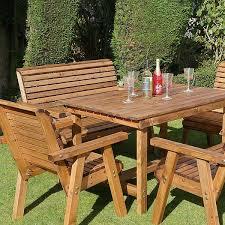 garden dining set 135cm rectangular bronte