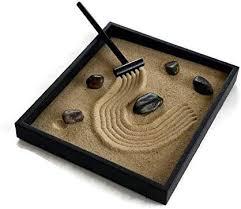 zen garden black handmade kit indoor