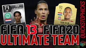 VIRGIL VAN DIJK FIFA 13 - FIFA 20 FUT HISTORY EVOLUTION I VAN DIJK FIFA  ULTIMATE TEAM HISTORY in 2020