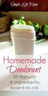 homemade deodorant simple life mom