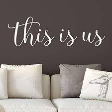Amazon Com This Is Us Vinyl Wall Decal By Wild Eyes Signs Family Photo Wall Words Entry Way Wall Lettering Entrance Quote Foyer Sign Living Room Decor Hh2263 Handmade