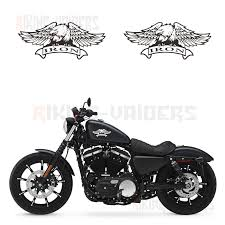 Custom Eagle Logo Stickers Fuel Tank Decals Vinyl Sticker For Harley Sportster Xl883n Iron Decals Stickers Aliexpress