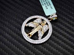 micro pave gold sterling silver 925