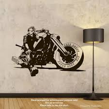 Amazon Com Harley Davidson Chopper Wall Decals Biker On A Motorcycle Stickers Decorative Design Ideas For Your Home Or Office Walls Removable Vinyl Murals Ec 1214 Arts Crafts Sewing