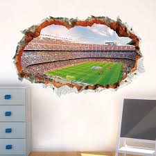 3d Vivid Football Soccer Wall Stickers For Kids Rooms Living Room Bedroom Wall Decals Boys Room Decoration Wall Stickers Aliexpress