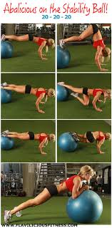 ility ball workout exercises