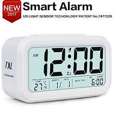 Amazon Com On Flipboard Digital Alarm Clock Electronic Table Clock Large Lcd Display Date Temperature Dimmer Snooze Nightlight Desk Shelf Clock For Kids Room Home Office Kitchen Bedside Clock White