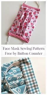 diy fabric face mask free sewing
