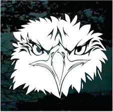 Eagle Window Decals Head American Car Stickers Decal Sutanrajaamurang
