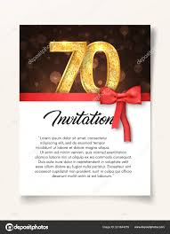 Wedding Invitation Card Template To The Day Of The Seventy