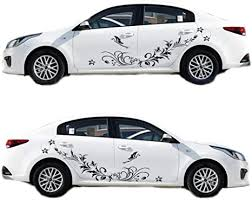 Amazon Com Bininbox Universal Both Sides Car Stickers Flower Vine Pattern Body Stickers Hood Decal 66 9 Inches Black Arts Crafts Sewing
