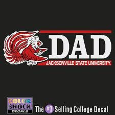 Jsu Dad Car Jsu Surprise Your Dad With A Jsu Car Decal He Will Love Supporting Jacksonville Stat Jacksonville State College Decals State University