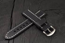 handmade leather mens watch strap 16mm