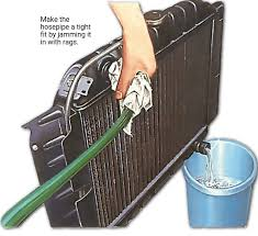how to flush an engine radiator how a