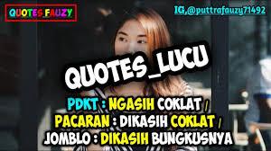 kumpulan quotes lucu kekinian status wa status foto