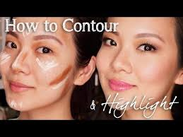 how to contour and highlight for asian