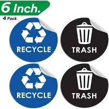 Pixelverse Design Recycle Sticker Trash Can Decal 6 Large Recycling Vinyl 4 Ebay