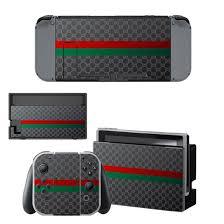 Gucci Nintendo Switch Skin Sticker Vinyl Bundle Designer Lab Co