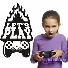 Game Handle Decal Video Game Controller Sticker Play Decal Gaming Posters Gamer Vinyl Decals Decor Mural Video Game Wall Sticker Video Game Stickers Game Stickervinyl Wall Decals Aliexpress