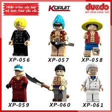 Minifigures Đảo hải tặc Sanji, Frank, Luffy, Sakazuki, Edward, D ...