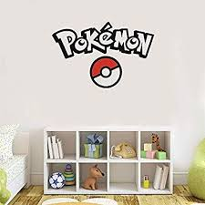 Qwzgfv Vinyl Wall Stickers Pokemon Quotes Cartoon Pokemon Go Ball Wall Decals For Kids Room Decor Mural Deca Kids Wall Decals Pokemon Wall Decals Pokemon Decal