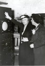 Helen Keller and her companion-interpreter Polly Thompson examing ...