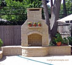 outdoor fireplaces design and