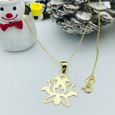 real gold lotus necklace in 2020 with