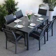 garden table set virginia grey 6