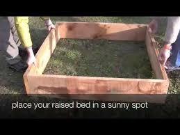 build a raised vegetable garden bed