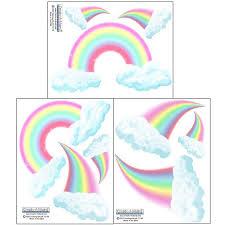 Pastel Rainbow Wall Decals Rainbow Wall Stickers Room Decor Walmart Com Walmart Com