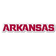 Arkansas Block Lettering Dizzler Decal 2