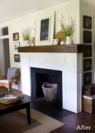 modern shaker style fireplace mantel