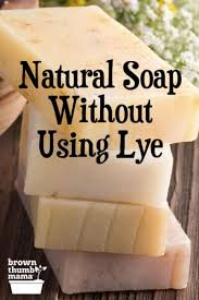 make soap without using lye brown