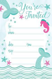 Invitaciones De Fiesta De Cumpleanos De Sirena Estilo D