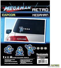 Amazon Com Megaman Retro Arcade 8 Bit Decals Mega Man Sticker Vehicle Decal Sticker Laptop Decal All Weather Proof Vinyl Stickers Licensed Capcom Decals Automotive