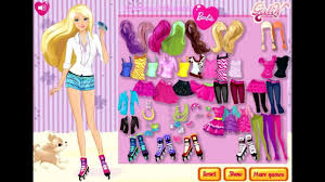 playing the dress up barbie toy doll