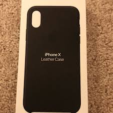iphone x black leather case