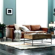 light colored leather sofa