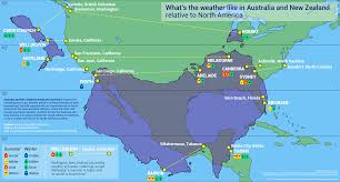 A Map Comparing the Climate in New ...