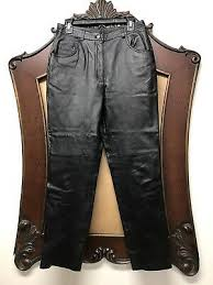 black leather biker pants fully lined