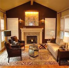 idea dark brown painted wall color