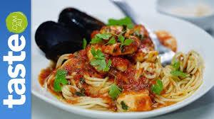 Spaghetti marinara - YouTube