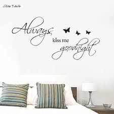 Always Kiss Me Goodnight Removable Mural Wall Stickers Wall Decal Room Home Bed Room Decoration Warm Family Stickers Muraux Warm Family Sticker Wall Decalroom Decoration Aliexpress