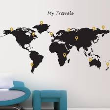 Travel Map Wall Sticker This Is Like The Best Wall Sticker Ever I Want It Wall Sticker World Map Travel Pins Vinyl Wall Stickers