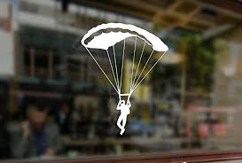 Amazon Com 25 Centimeters Skydiving Parachute Jump Vinyl Stickers Funny Decals Bumper Car Auto Computer Laptop Wall Window Glass Skateboard Snowboard Computers Accessories