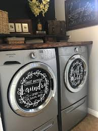 Laundry Room Decor Self Service Laundry Fluff And Fold Vinyl Decal Set 13 5 Washer Dryer Vinyl Laundry Room Decals Laundry Room Decor Laundry Room Tile