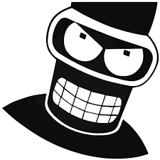 Angry Bender Futurama Decal Sticker
