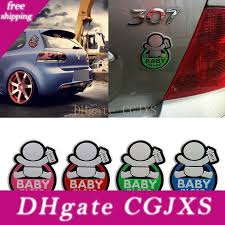 2020 Lovely Car 3d Metal Aluminum Stickers Fashion Lovely Baby In Car Warning Decal Reflective Waterproof Car Window Vinyl Stickers From Pkkidsswj 3 15 Dhgate Com
